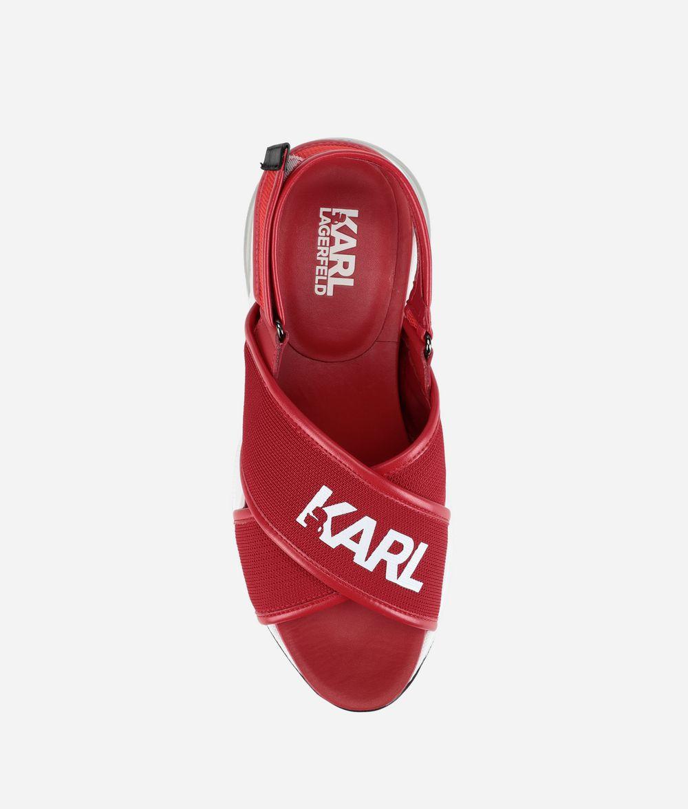 KARL LAGERFELD Ventura Sandalen mit überkreuzten Riemen und Karl-Logo Sandalen Damen d