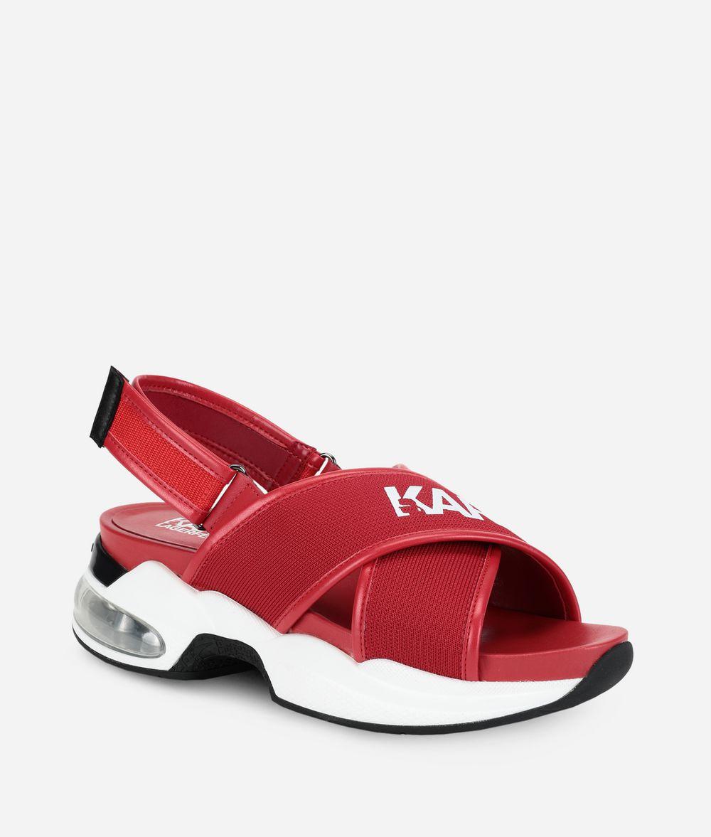KARL LAGERFELD Ventura Sandalen mit überkreuzten Riemen und Karl-Logo Sandalen Damen f