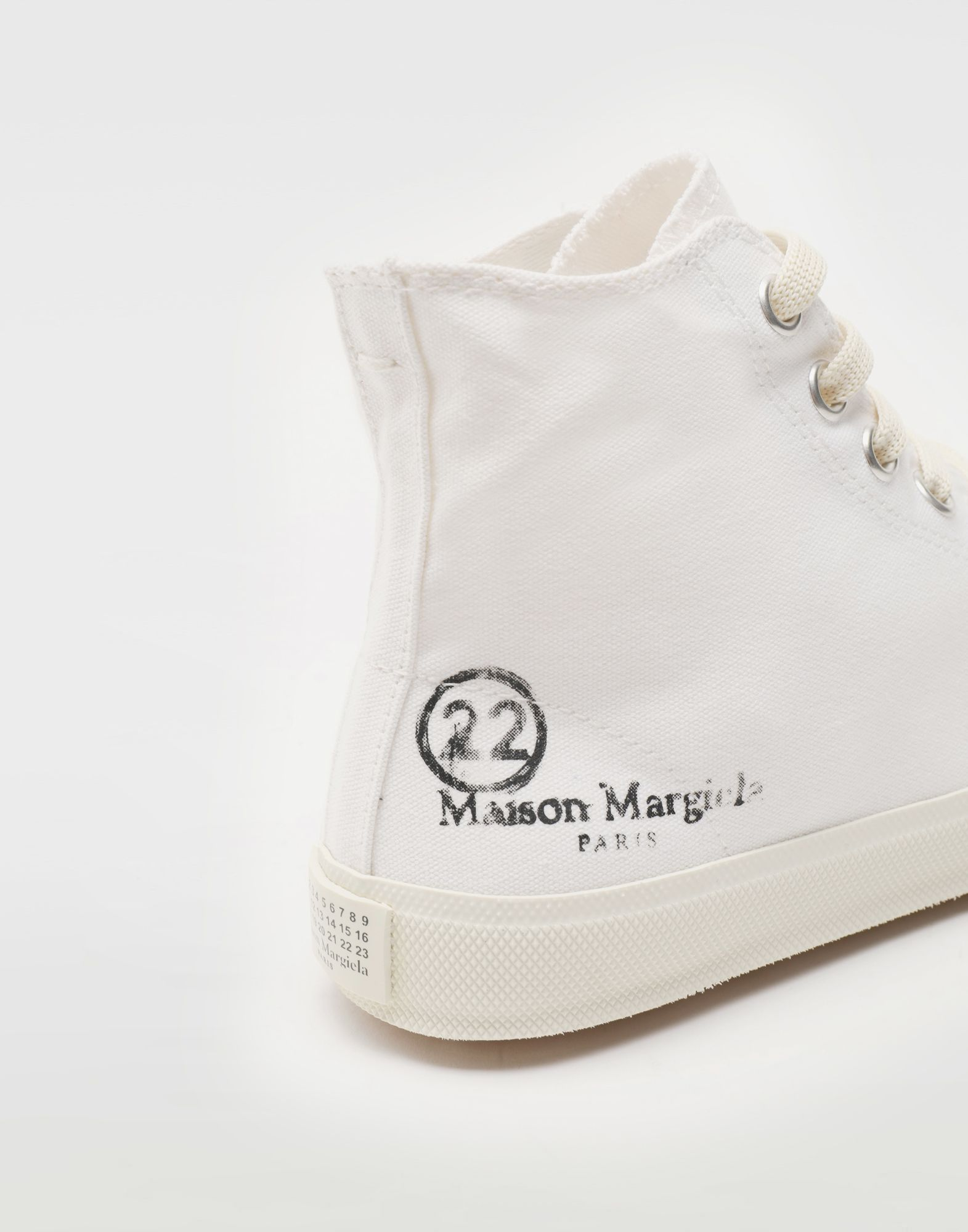 MAISON MARGIELA Tabi high top canvas sneakers Sneakers Tabi Woman a