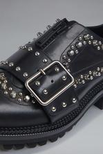 DSQUARED2 Red & Black Punk New Preppy Punk Flat Shoes Lace-Up  Man