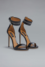 DSQUARED2 Red & Black Punk Zip Sandals High-heeled sandals Woman