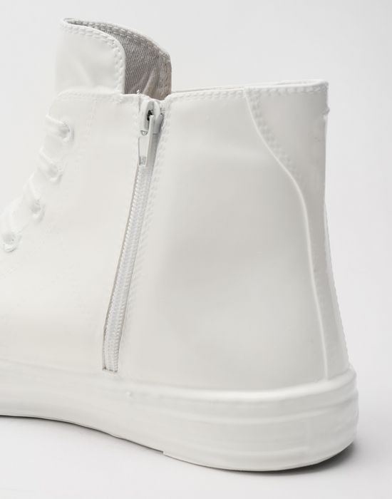 MAISON MARGIELA Plastic casing high-top sneakers Sneakers [*** pickupInStoreShippingNotGuaranteed_info ***] e