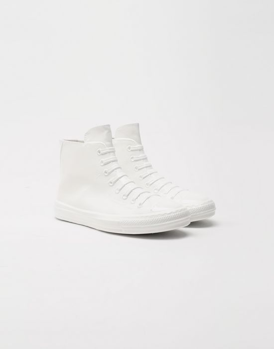 MAISON MARGIELA Plastic casing high-top sneakers Sneakers [*** pickupInStoreShippingNotGuaranteed_info ***] r