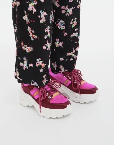 SHOES Retro Fit satin sneakers Maroon
