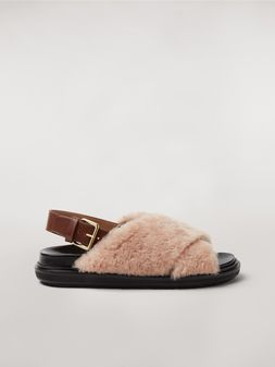 Marni Criss-cross fussbett in shearling Woman