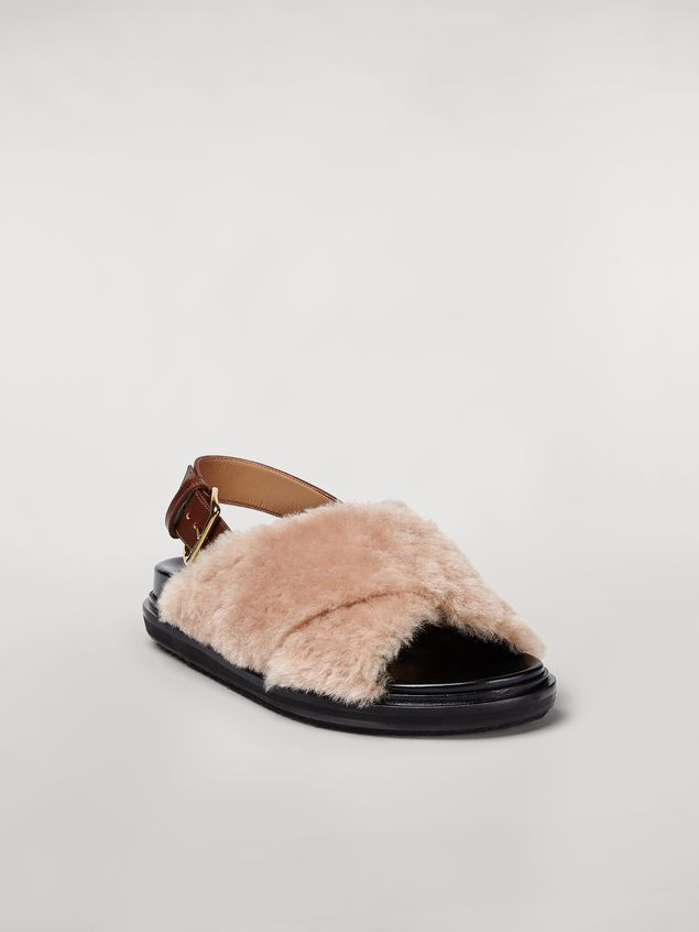Marni Criss-cross fussbett in shearling Woman - 2