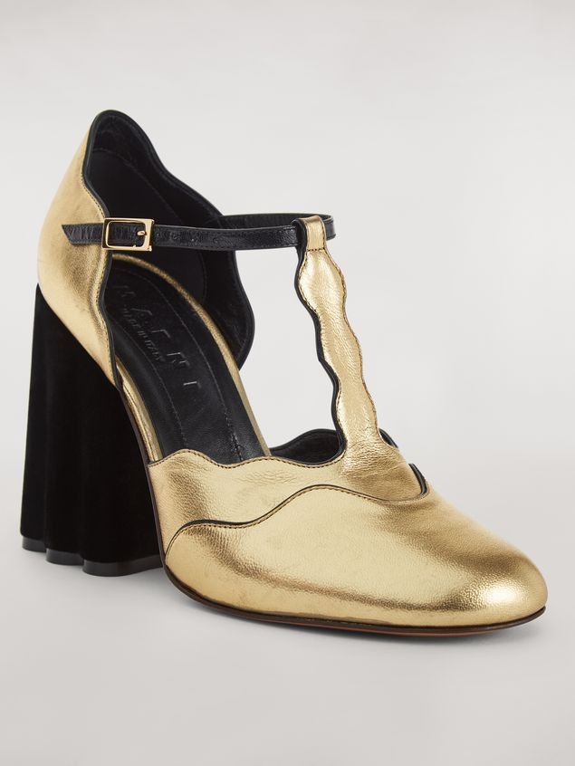 MARNI Mary Jane Shoe Woman TEATRO pump in laminated nappa a