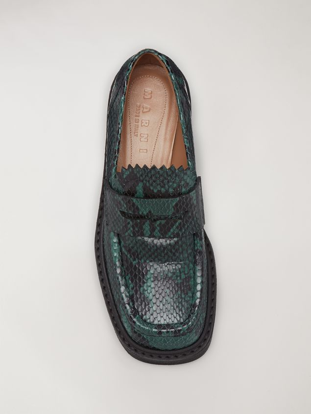 Marni MILLERIGHE Moccasin in python-printed leather Woman - 4