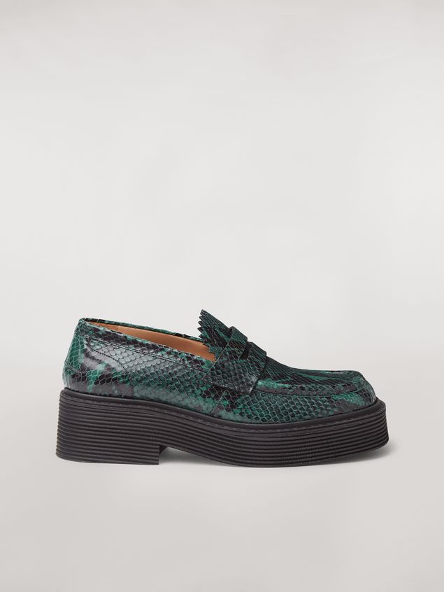 Marni MILLERIGHE Moccasin in python-printed leather Woman - 1