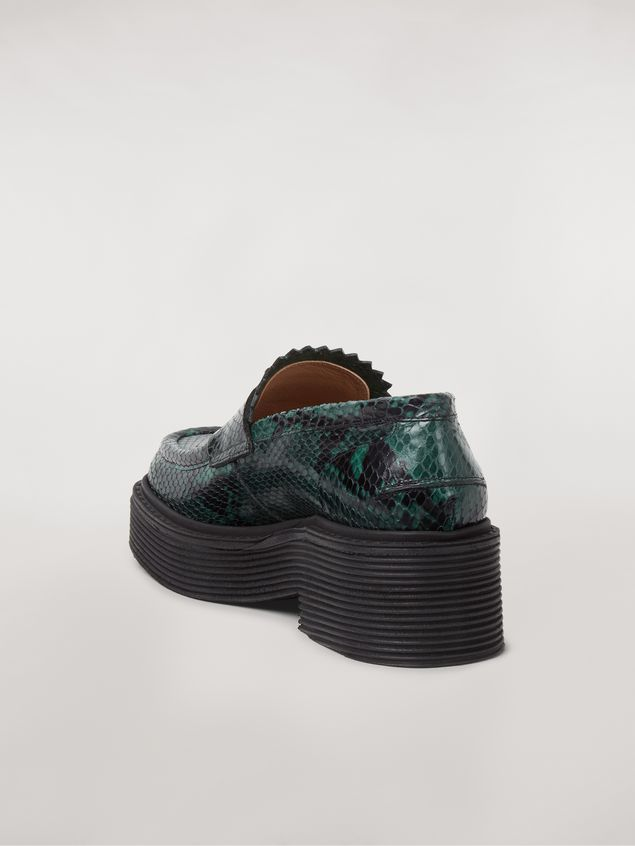 Marni MILLERIGHE Moccasin in python-printed leather Woman - 3