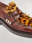 Marni PIERCING moccasin in leopard print pony calfskin Woman - 5