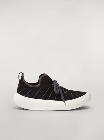 Marni BANANA sneaker in polyester with zig-zag topstitching Man f