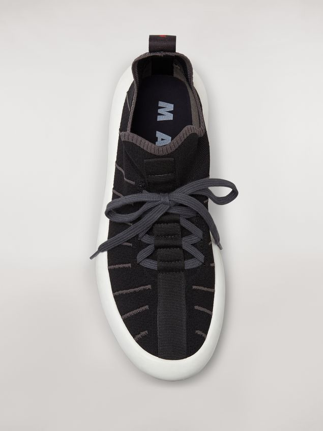 Marni BANANA sneaker in polyester with zig-zag topstitching Man - 4