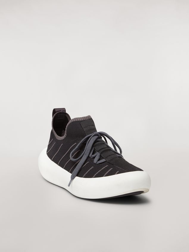 Marni BANANA sneaker in polyester with zig-zag topstitching Man - 2
