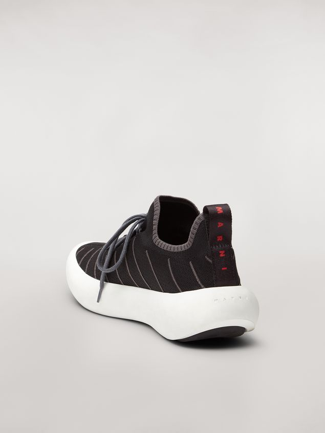 Marni BANANA sneaker in polyester with zig-zag topstitching Man - 3