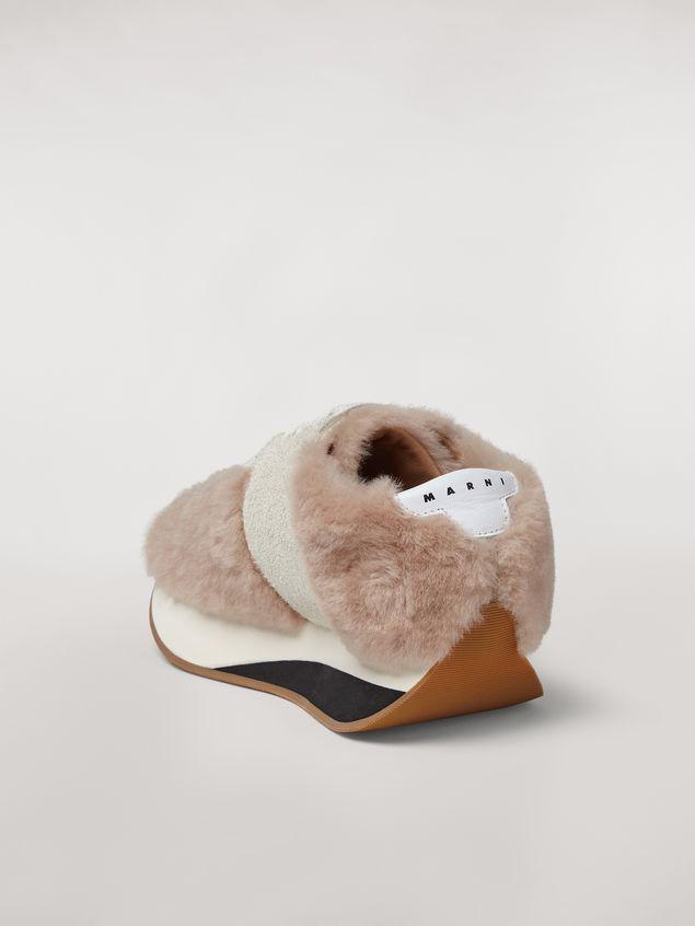 Marni Marni BIG FOOT sneaker in shearling Woman