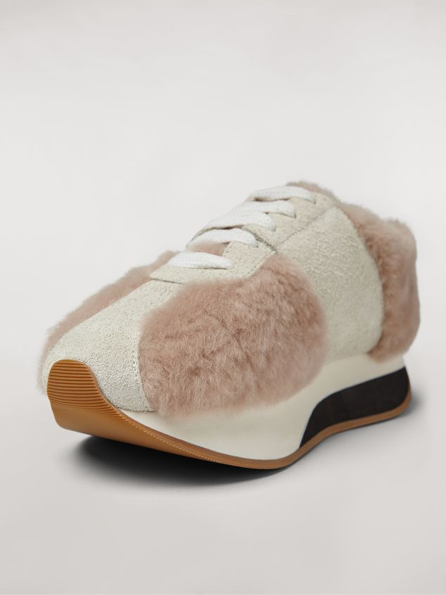 Marni Marni BIG FOOT sneaker in shearling Woman - 5