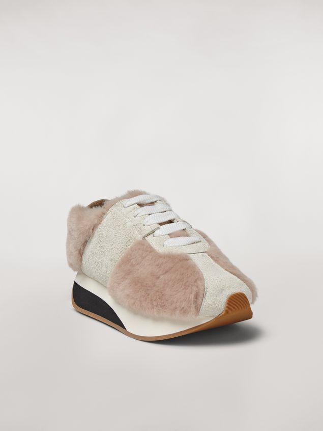 Marni Marni BIG FOOT sneaker in shearling Woman - 2