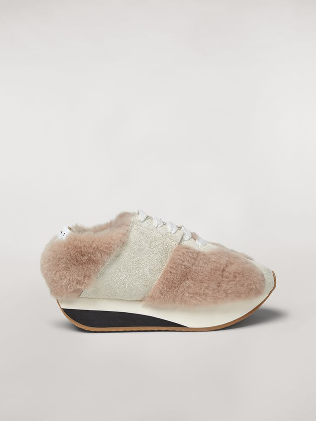 Marni Marni BIG FOOT sneaker in shearling Woman - 1