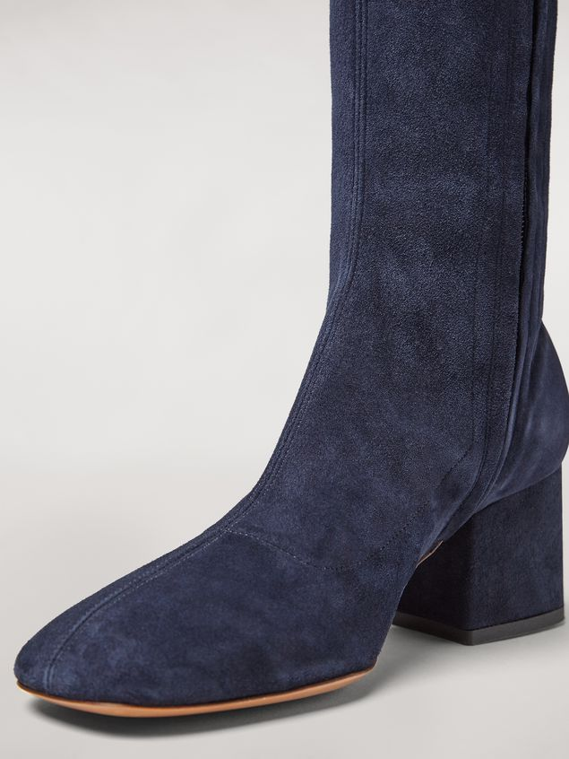 MARNI Boots Woman Sock leg suede boot a