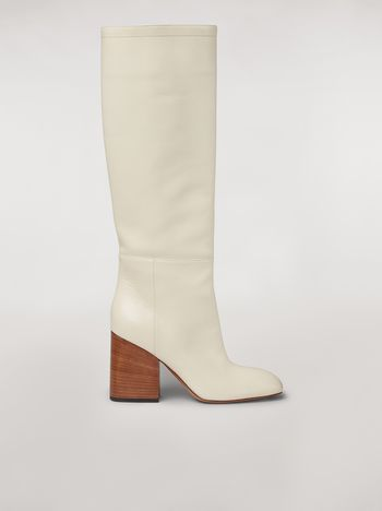 Marni Calfskin pipe leg boot Woman f