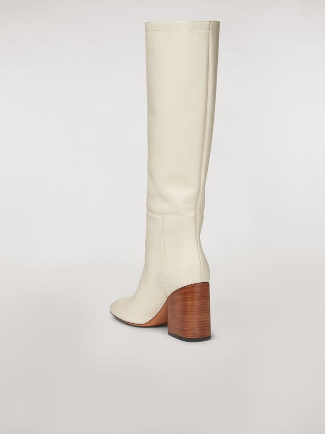 Marni Calfskin pipe leg boot Woman