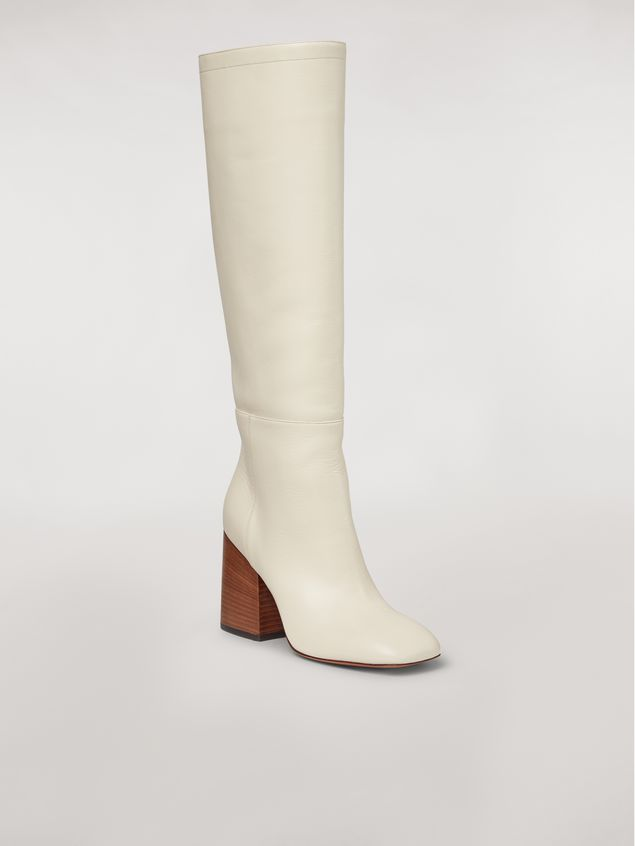Marni Calfskin pipe leg boot Woman - 2