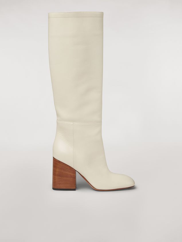 Marni Calfskin pipe leg boot Woman - 1