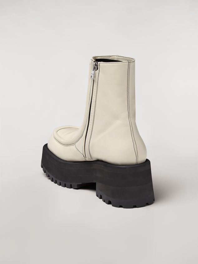 Marni CARRO ARMATO wedge in goat skin Woman - 3