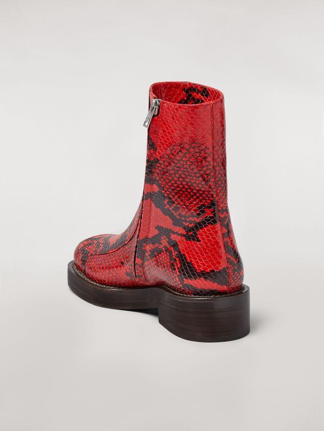 Marni PIERCING calfskin python print ankle boot Woman