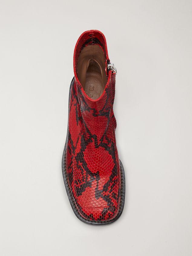 Marni PIERCING calfskin python print ankle boot Woman - 4