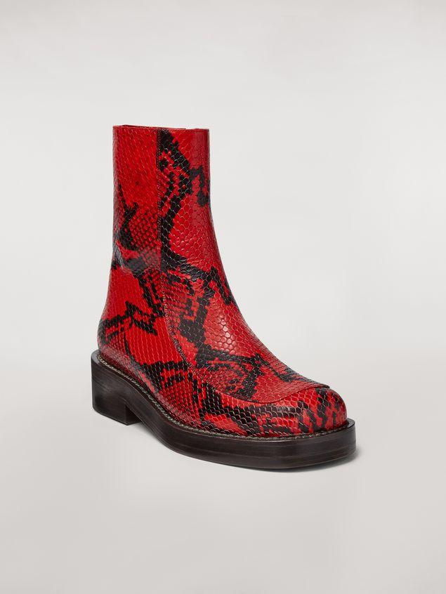 Marni PIERCING calfskin python print ankle boot Woman - 2