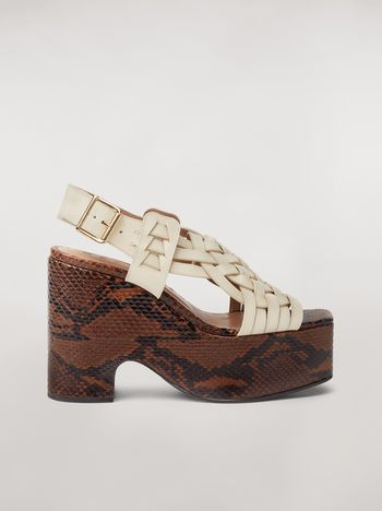Marni BRAID leather wedge Woman f