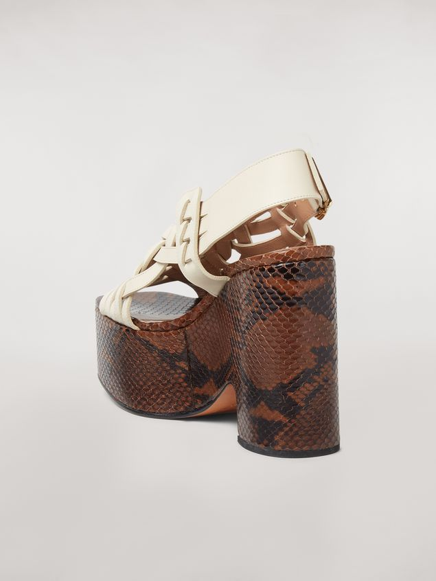 Marni BRAID leather wedge Woman
