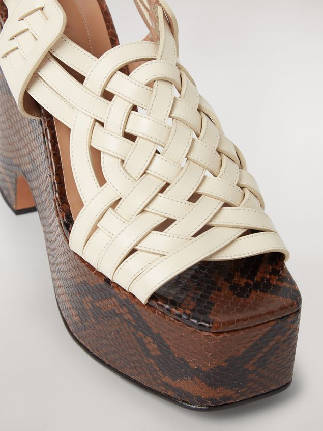 MARNI Wedges Woman BRAID leather wedge a