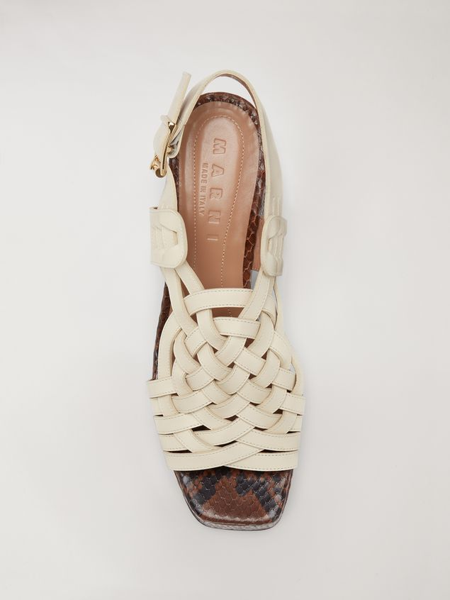 Marni BRAID leather wedge Woman - 4