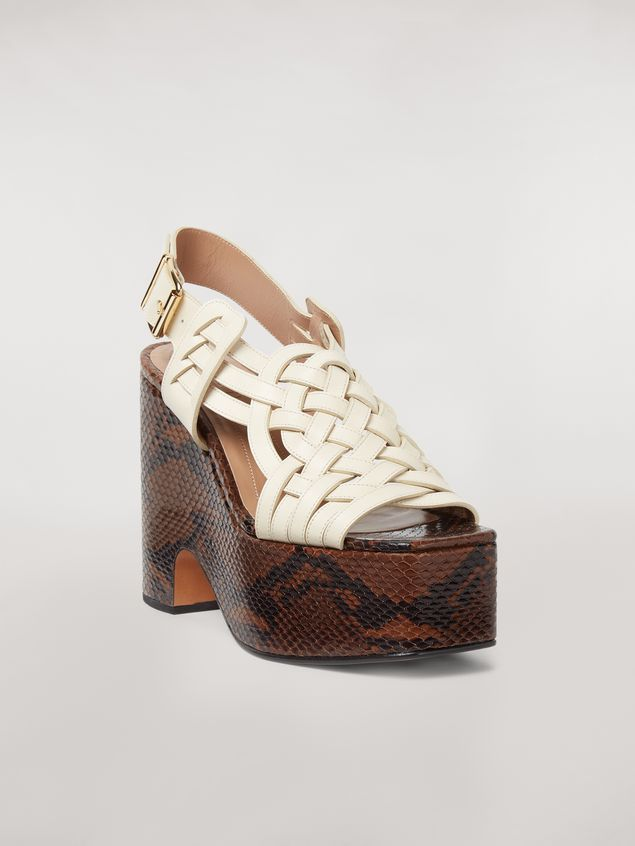 Marni BRAID leather wedge Woman - 2