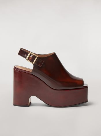 Marni Brushed calfskin wedge Woman f