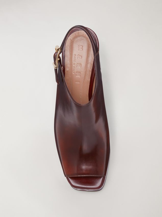 Marni Brushed calfskin wedge Woman - 4