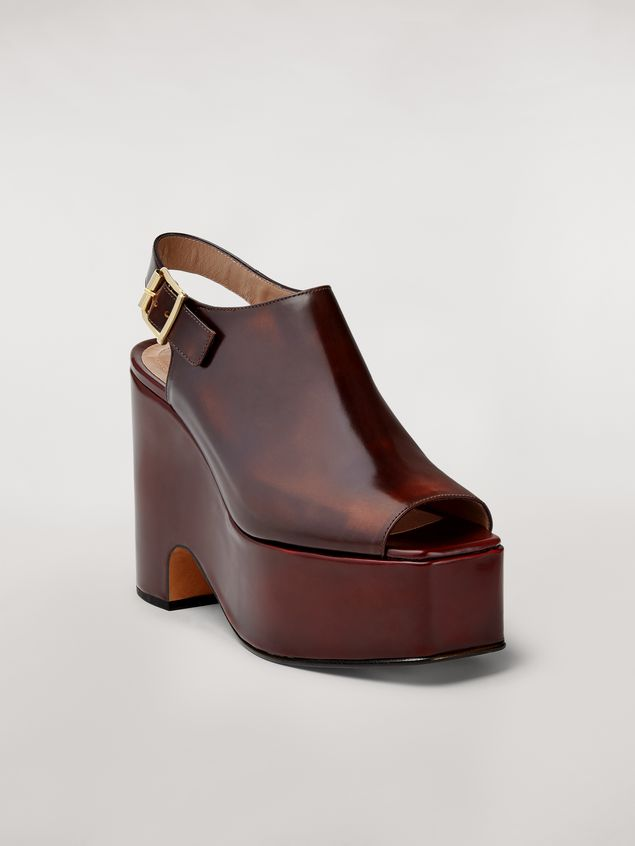 Marni Brushed calfskin wedge Woman - 2