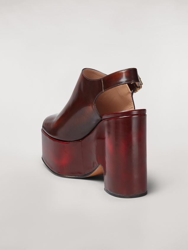 Marni Brushed calfskin wedge Woman - 3