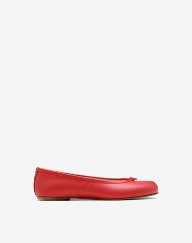 SHOES Tabi calfskin ballerinas Red