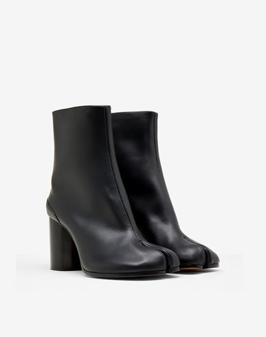 SHOES Calfskin Tabi boots Black