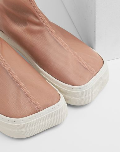 SHOES Covered slip-ons Skin color