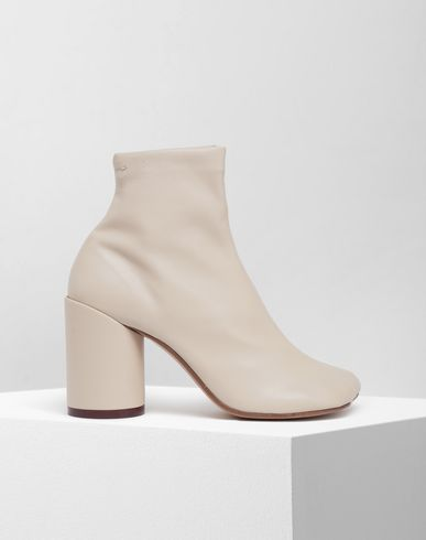 SHOES Ankle boots Beige