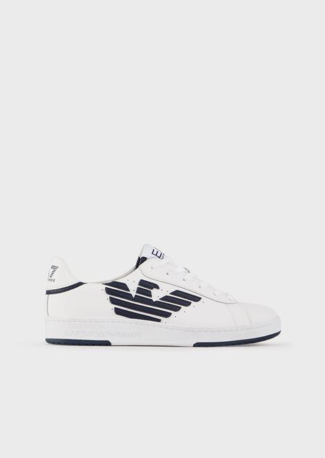 Sneakers in pelle con logo stampato
