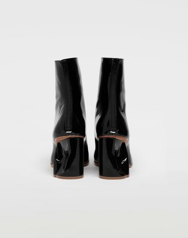 SHOES Crushed heel ankle boots Black