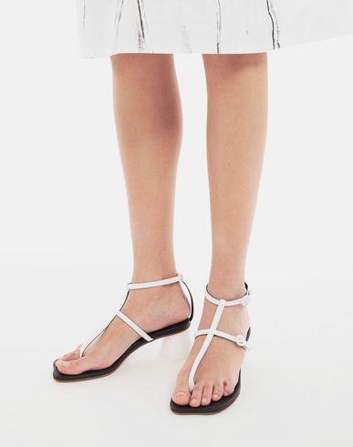 SHOES Espresso cup heel thong sandals