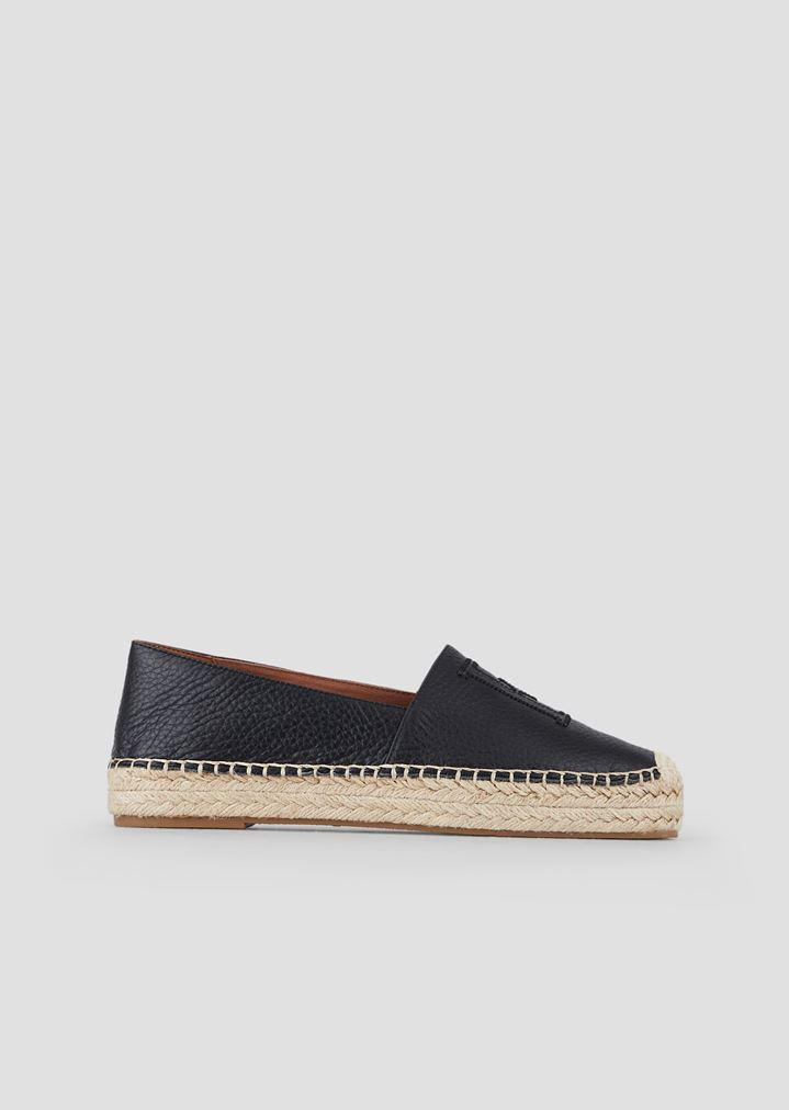 b319c280706 Leather espadrilles with EA patches
