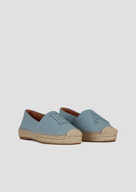 Leather espadrilles with EA patches